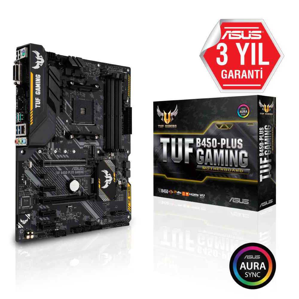 ASUS TUF B450-PLUS GAMING AMD B450 Ryzen...