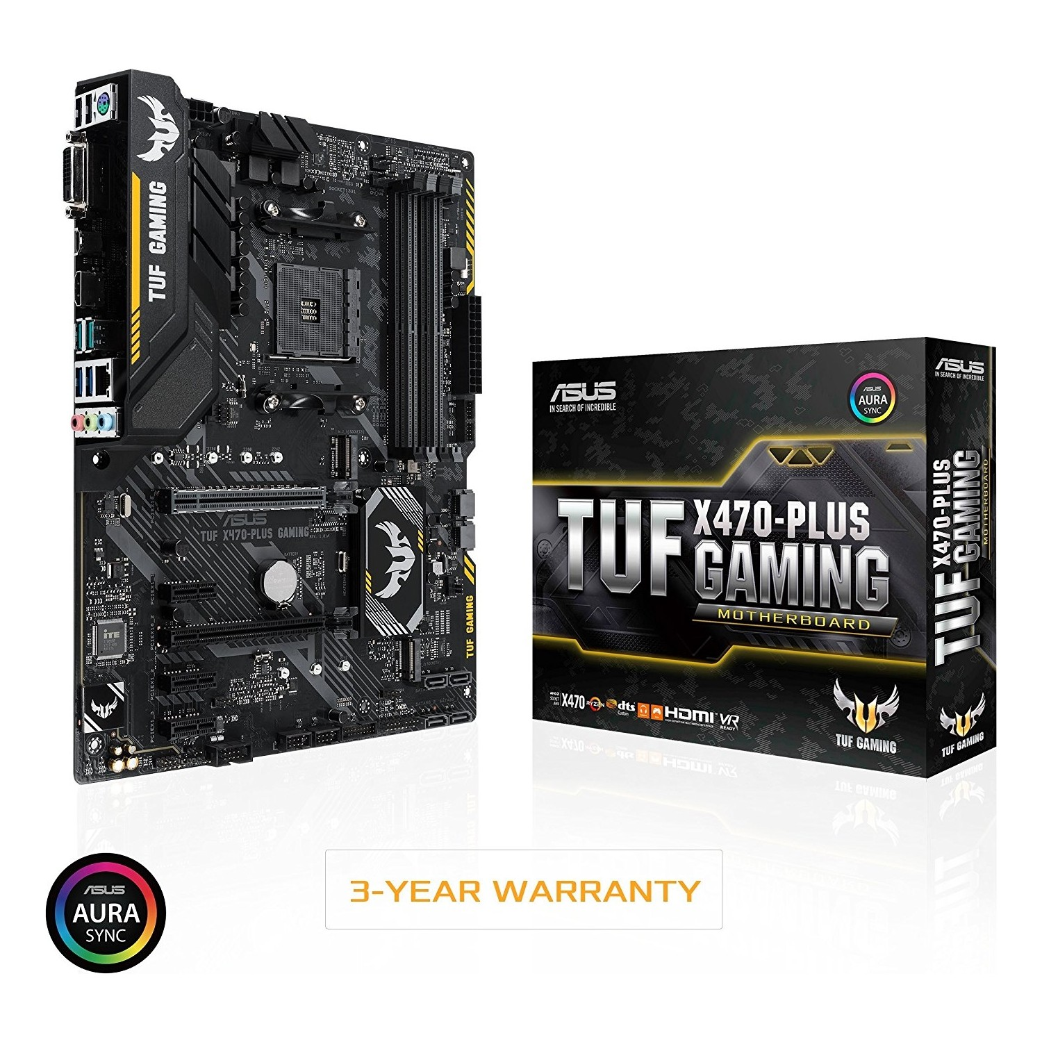 Asus TUF X470-PLUS GAMING AM4 DDR4 Ses+G...