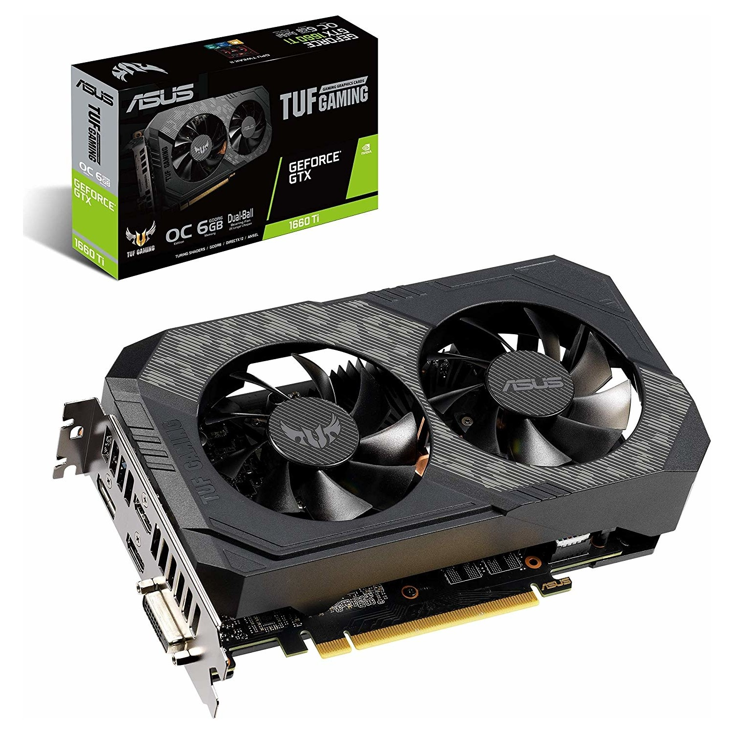 ASUS TUF Gaming GeForce GTX 1660 TI OC, ...